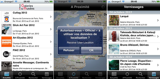 appliofficiel Des applications smartphone pour lactu des musées et des expos