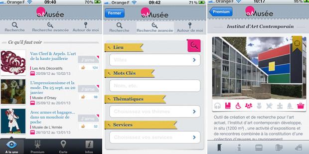 appliomusee1 Des applications smartphone pour lactu des musées et des expos