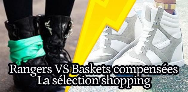 Sélection de chaussures : Baskets compensée vs Rangers