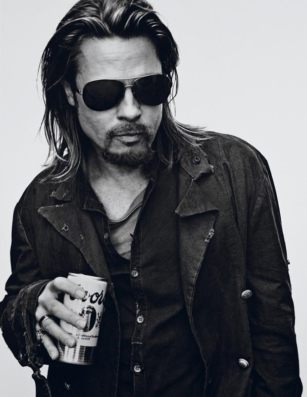 braaaad Brad Pitt pour Interview Magazine : le photoshoot aux milles visages