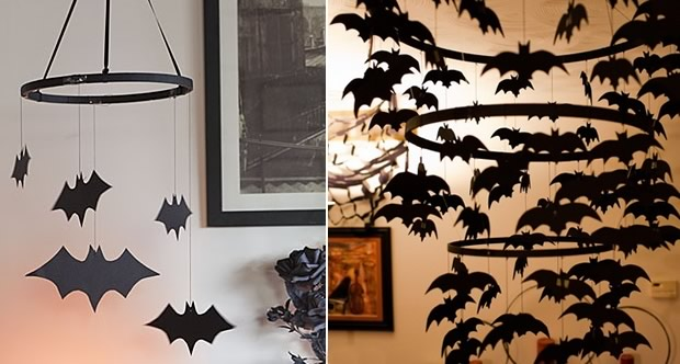 D co diy pour halloween 2 for Deco halloween chauve souris