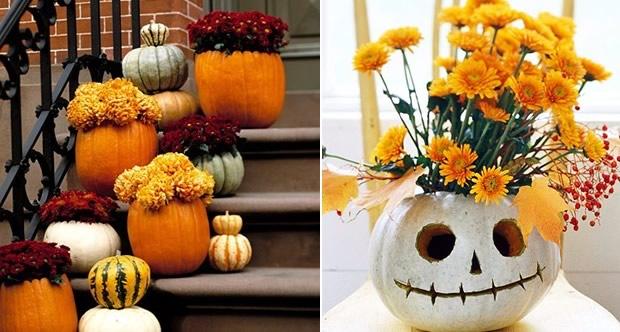 Fleurs halloween - Decoration citrouille pour halloween ...