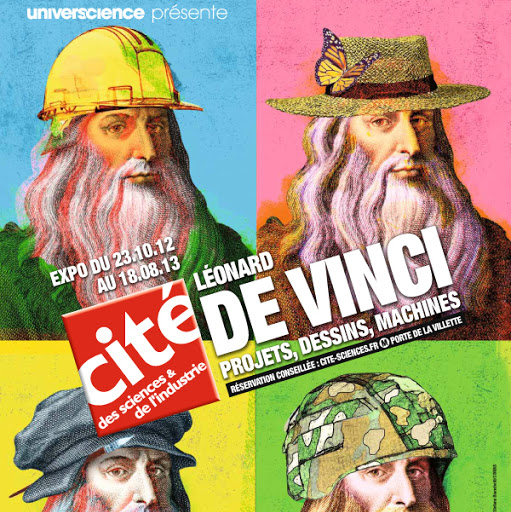 Léonard de Vinci, projets, dessins, machines à la Cité des Sciences devincimachines