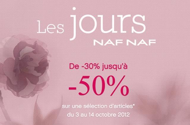 20% de remise supplémentaire sur les Jours Naf Naf
