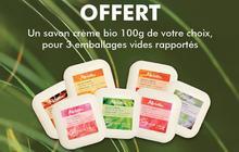 Recycle tes vieux emballages Melvita et reçois un savon en échange !
