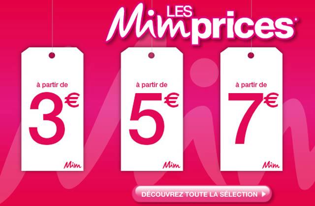 Les Mim Prices : jusqu'à 65% de réduction !