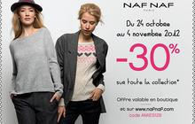 Bon plan Naf Naf : 30% de réduction