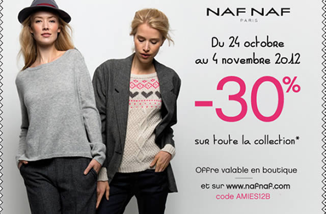 Bon plan Naf Naf : 30% de réduction