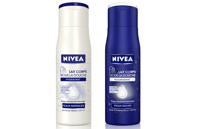 Nivéa lance un lait hydratant… sous la douche