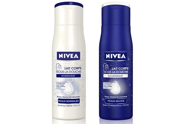 niveadouche Nivéa lance un lait hydratant... sous la douche