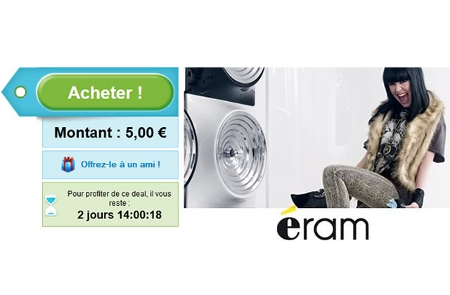 -40% de réduction chez Eram via Groupon
