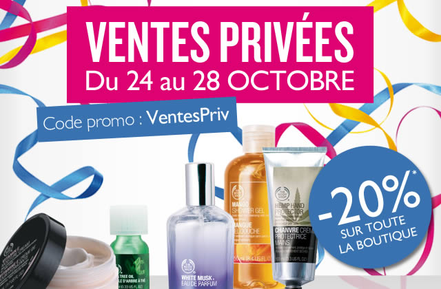 Ventes privées The Body Shop : c'est parti !