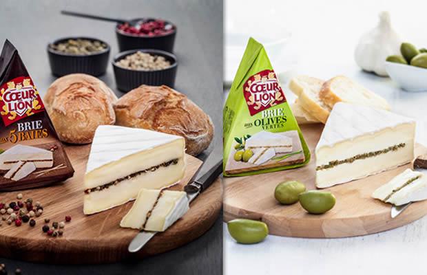 brie Brie aux Saveurs, deux nouveaux produits Coeur de Lion