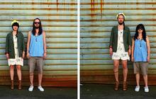 Photos : quand les couples échangent leurs vêtements