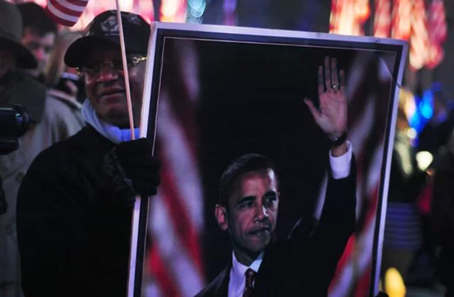 La réélection d'Obama, en direct de New York (photos)
