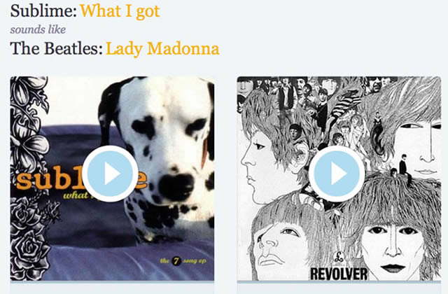 Sounds Just Like : le site qui débusque les clones musicaux