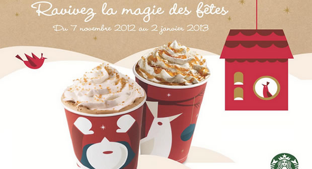 starbucks1 Starbucks lance ses boissons de Noël !
