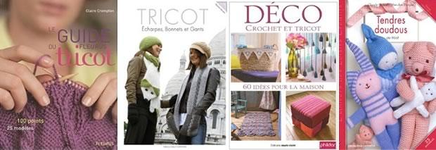 tricot bouquins Tricot : tutos vidéos, tutos photos, idées et livres spécialisés !