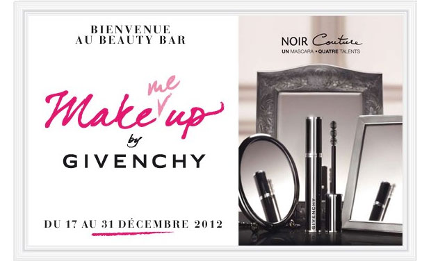 Givenchy et Nocibé vous offrent un relooking de fête ! Beauty Bar Givenchy