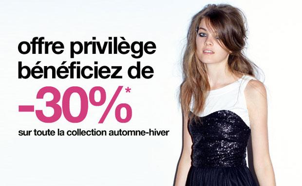 Offre privilege Jennyfer Profitez de ventes privées 2013 juste avant les soldes !