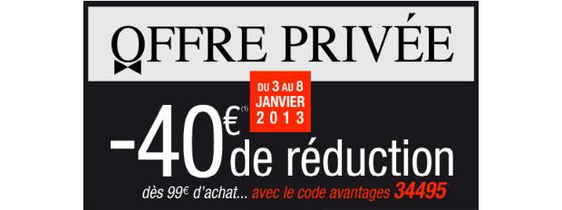 VP 3 Suisses Profitez de ventes privées 2013 juste avant les soldes !