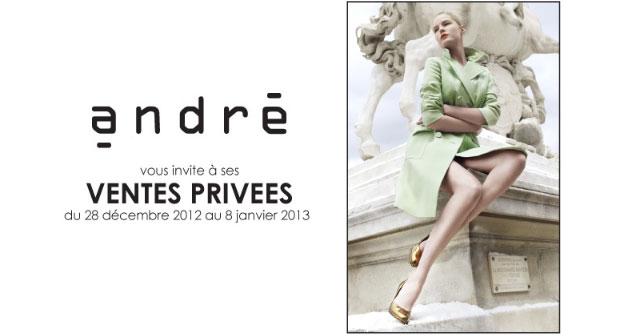 Profitez de ventes privées 2013 juste avant les soldes ! VP Andre