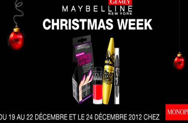 Des séances make-up et des réductions à la Christmas Week Monoprix-Gemey Maybelline