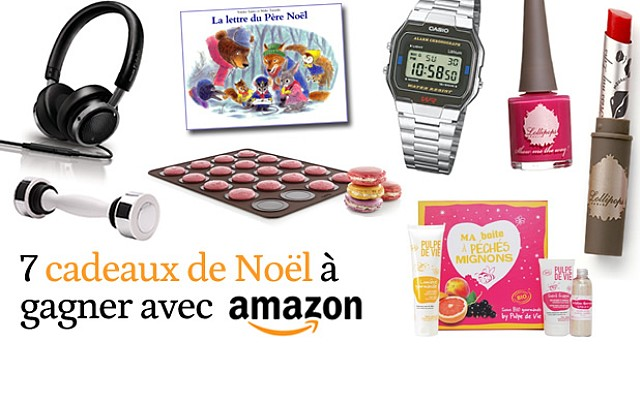 7 cadeaux de Noël à gagner sur Amazon