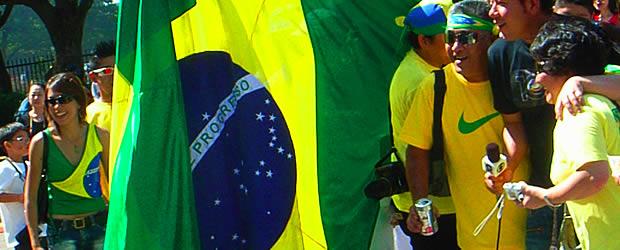 flag Ó Patria Amada Brasil : le Brésil par une Franco Brésilienne