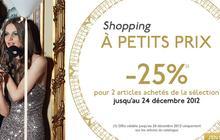 Galeries Lafayette : 25% de réduction dès le deuxième article acheté !