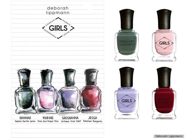girls Deborah Lippmann sort des vernis inspirés de la série Girls !