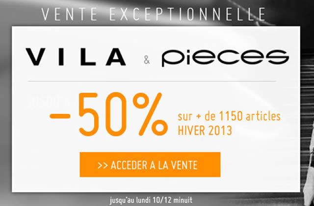 Monshowroom baisse les prix des pièces Vila Clothes et Pieces !