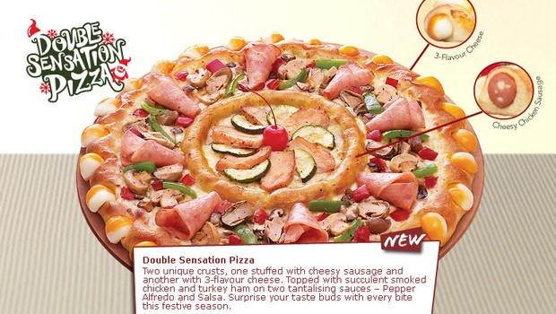 Pizza Hut sort une pizza de gros bourrin : la Double Sensation pizzahut1