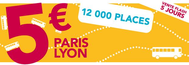 IDBus Lyon Paris Lyon à 5€ laller avec IDBus !