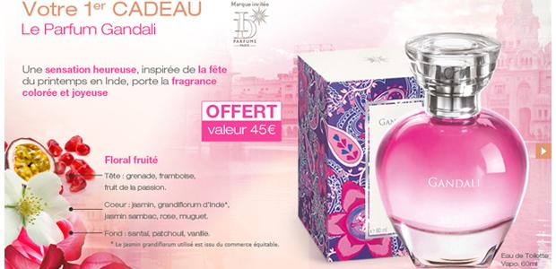 Parfum Gandali Des cadeaux en bonus avec les soldes beauté !