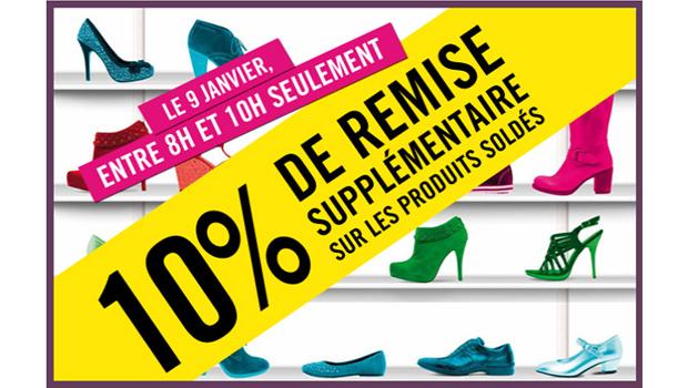 Soldes : 10% supplémentaires chez La Halle aux Chaussures et Jennyfer Soldes Chaussures