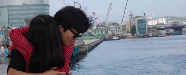 Les hommes et le couple   Carte postale de Corée du Sud amoureux coree