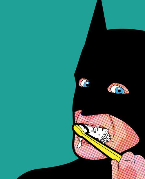 La vie secrète des super héros : de superbes illustrations batmolaire