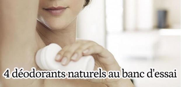 4 déodorants naturels au banc d'essai