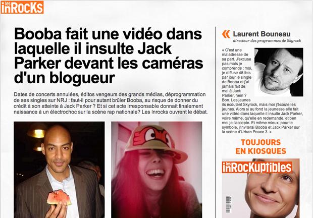 booba jack parker Le Dégénérappeur, la nouvelle merveille des Haterz