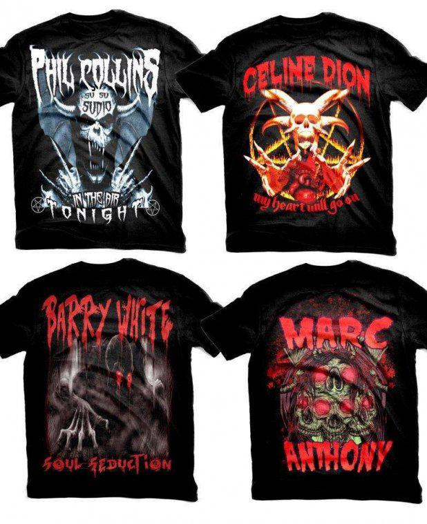 celine et le heavy metal Un t shirt métal en hommage à Céline Dion   WTF mode