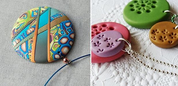 Latelier concours custo #2 : un pendentif en pâte Fimo fimo couleur