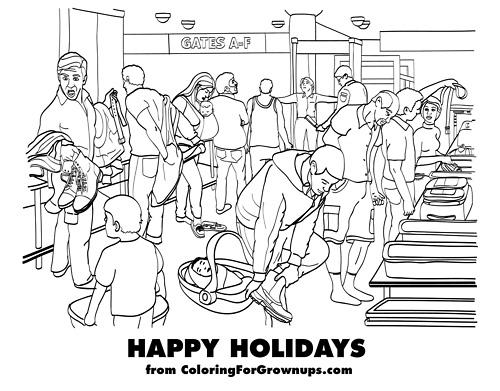 holidays Découvrez le coloriage pour adultes !