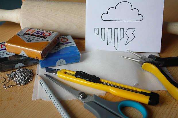 meteo1 Tuto   Un pendentif météo en Fimo