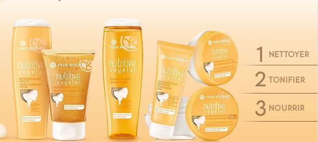 Nutritive Végétal, la nouvelle gamme Yves Rocher pour les peaux sèches nutritive