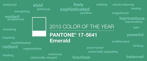 pantonevert Sélection déco   Vert émeraude, couleur de lannée 2013 par Pantone
