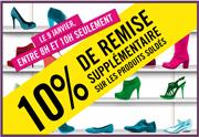 Lien permanent vers Soldes : 10% supplémentaires chez La Halle aux Chaussures et Jennyfer