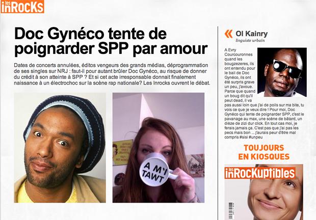spp doc gyneco Le Dégénérappeur, la nouvelle merveille des Haterz