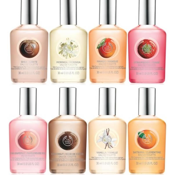 Les odeurs de The Body Shop en eaux de toilette toilettetbs