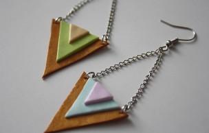 Lien permanent vers Tuto – Des boucles d'oreilles triangles aux couleurs toutes douces